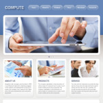 触摸屏公司网站(英文)模板