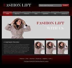 服装企业网站(英文)模板